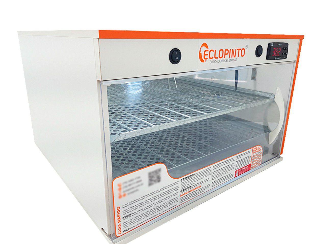 Chocadeira Eclopinto - 350 a 360 Ovos + Ovoscópio Giratório + Ar Forçado + Água e Viragem Automática