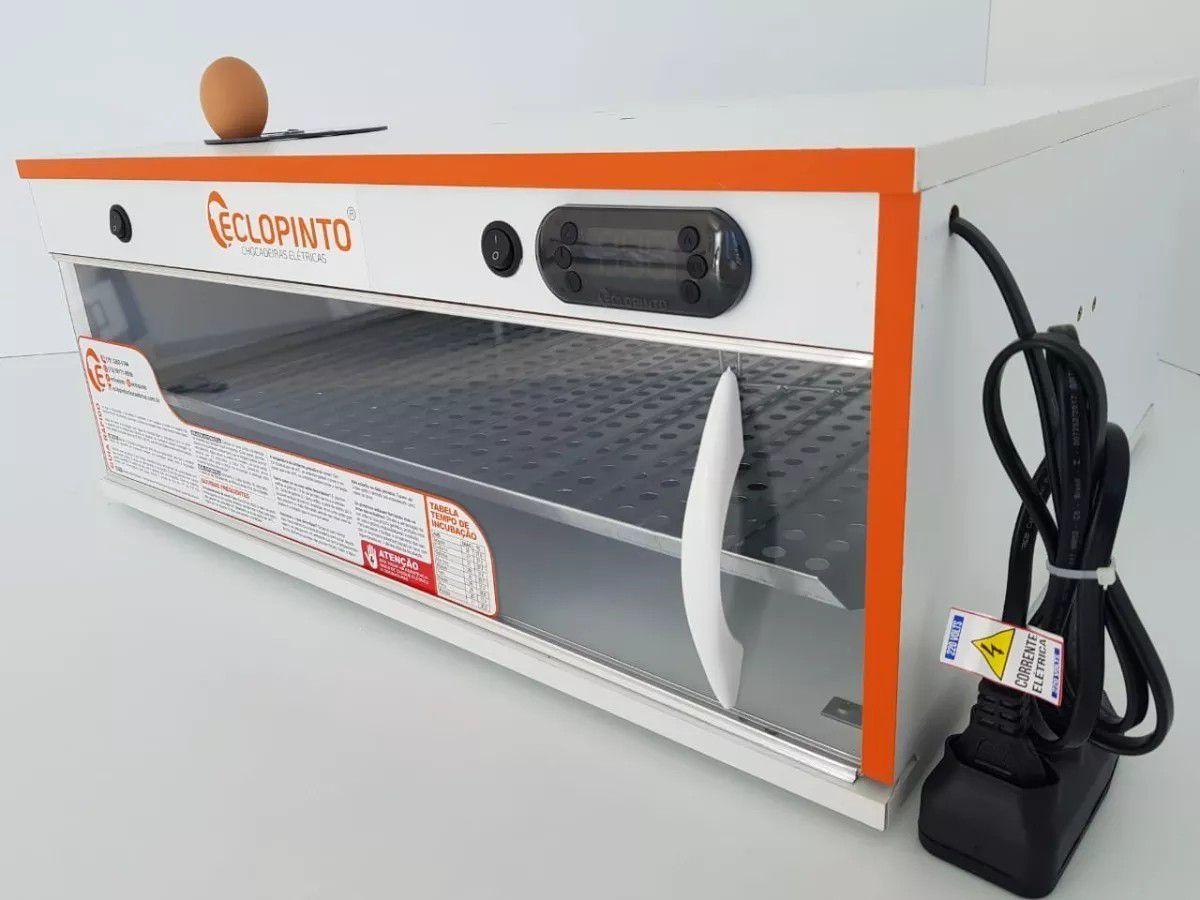 Chocadeira Eclopinto - 90 Ovos + Ovoscópio Giratório + Viragem Automática