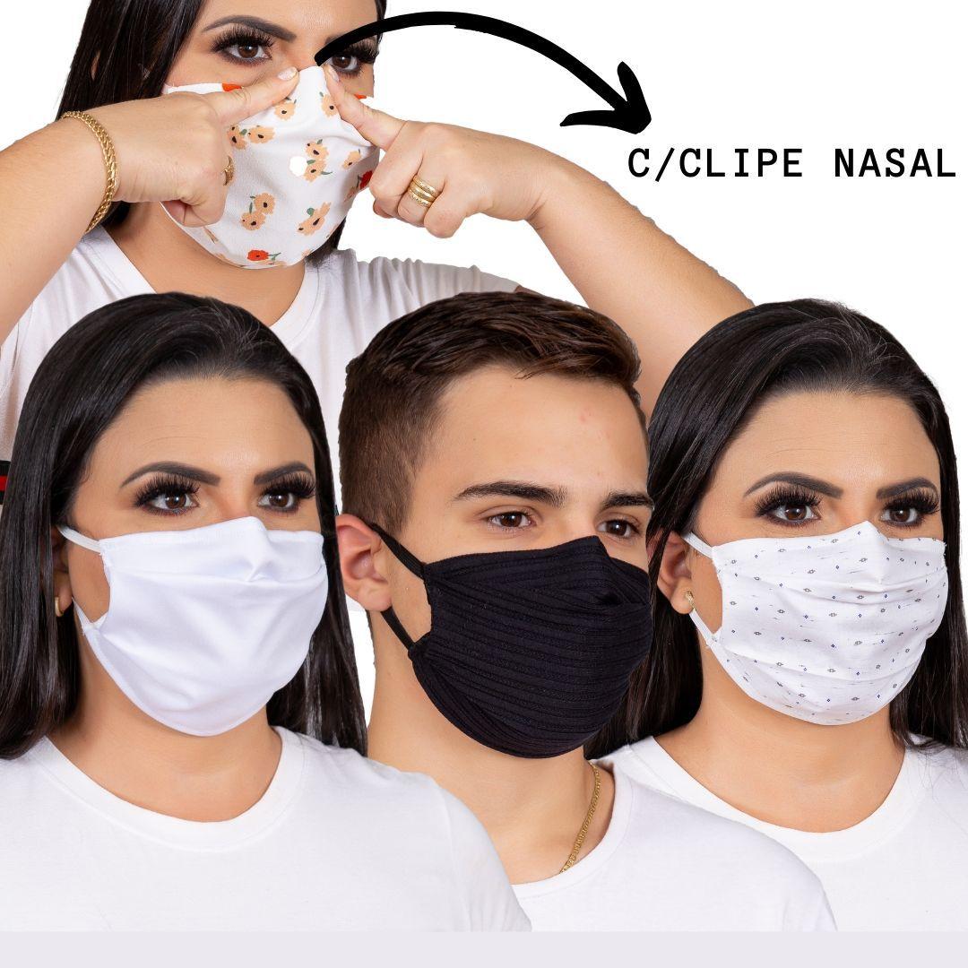 10 Máscara proteção para o rosto com clipe nasal