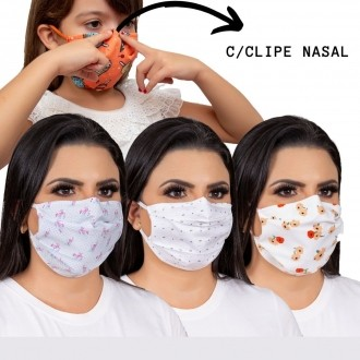 100 Máscara para REVENDA de  proteção para o rosto
