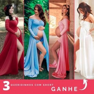 COMBO 04 = 3 Queridinhos + 3 Shorts e GANHE 1 Vestido tomara que caia de brinde
