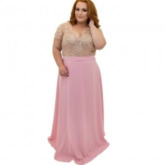 Vestido Plus Size com body de guipir