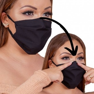Máscara preto LUXO