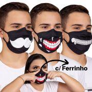 Máscara personalizada algodão com Forro TNT, Clipe nasal