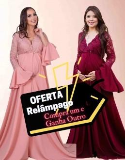 Oferta Relâmpago - Compre Vestido Robe Rodrigo Couto sem Short e ganha outro Vestido do mesmo modelo escolhendo a cor