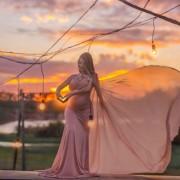 Top decote v + capa luxo + saia sereia Priscila Fontinele