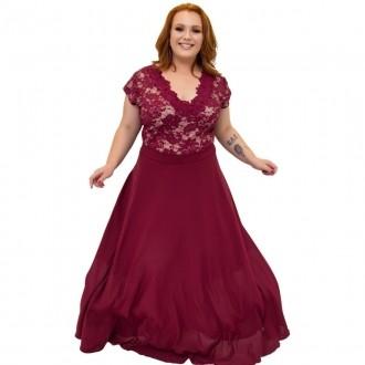 Vestido Plus Size Body de Renda