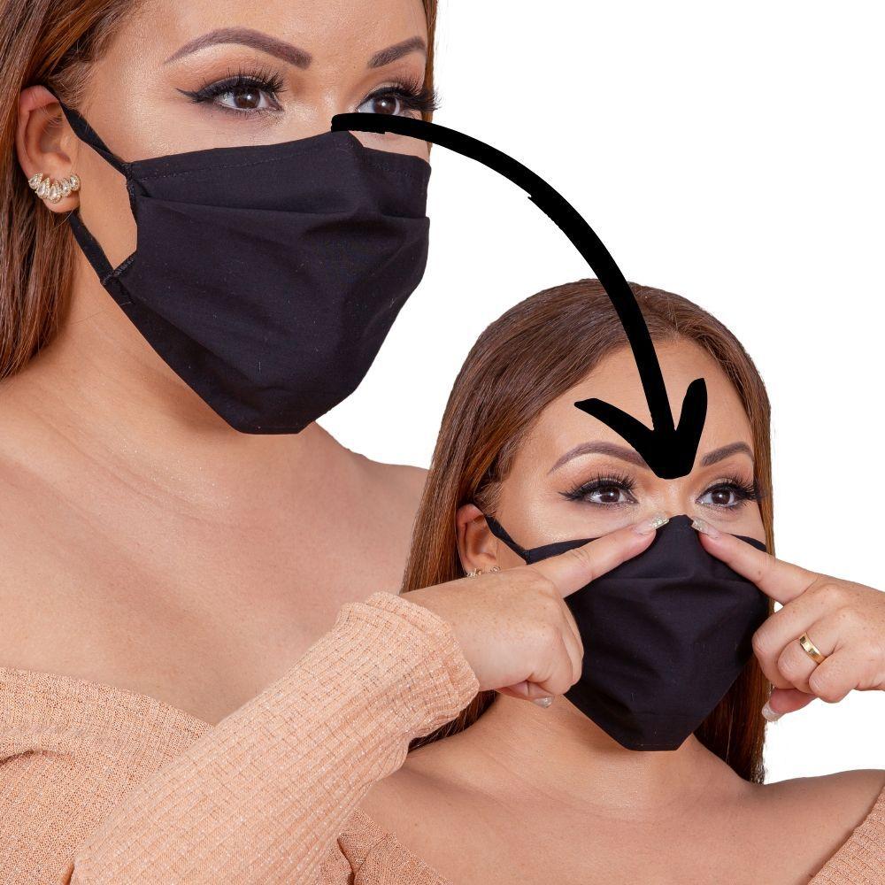 6 Máscara tecido tricoline 100% algodão