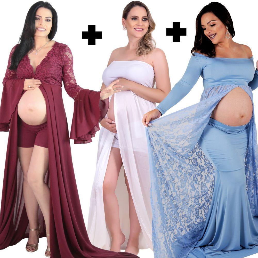 COMBO 01 =  Vestido Robe rodrigo couto com short + Vestido Tomara que Caia com short +  Vestido de Renda com saia sereia