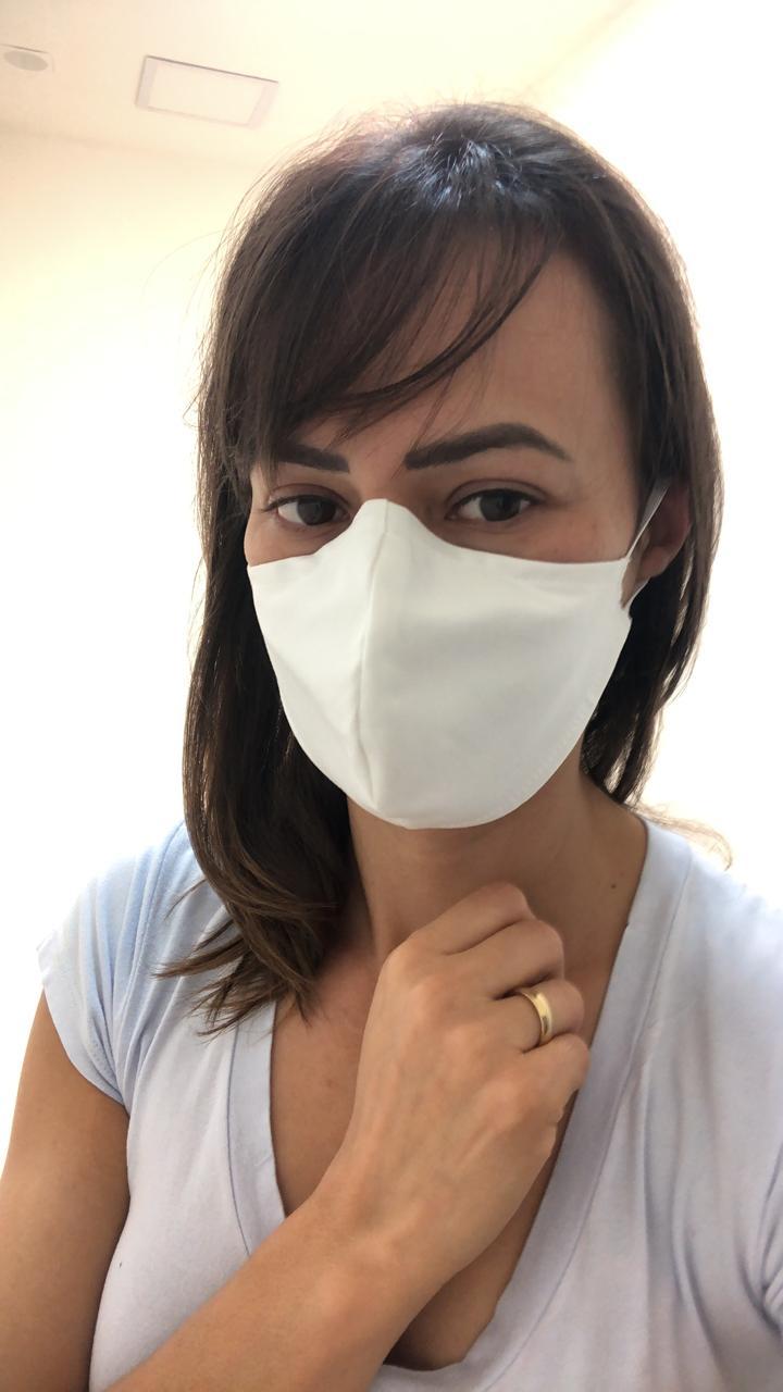 Máscara bojo, proteção dupla com tecido algodão e clipe nasal
