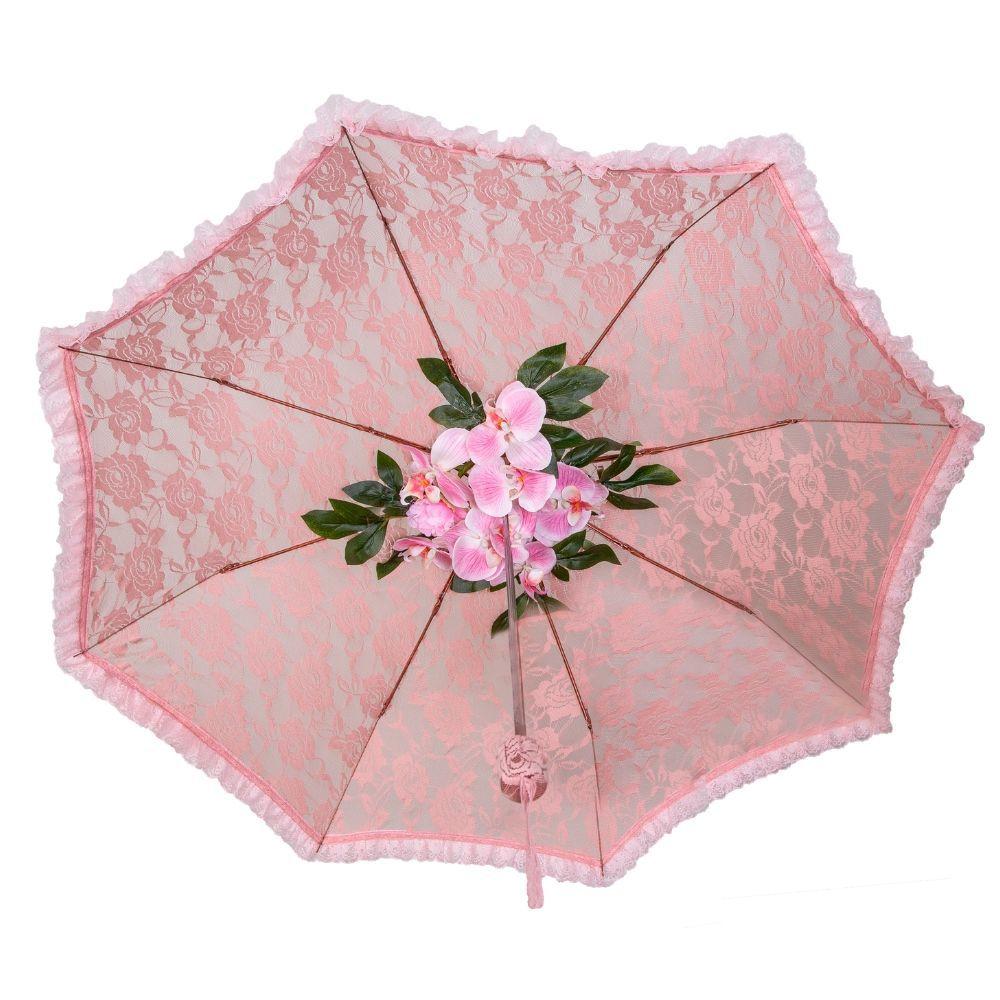 Sombrinha de Renda + Arranjo de Flores