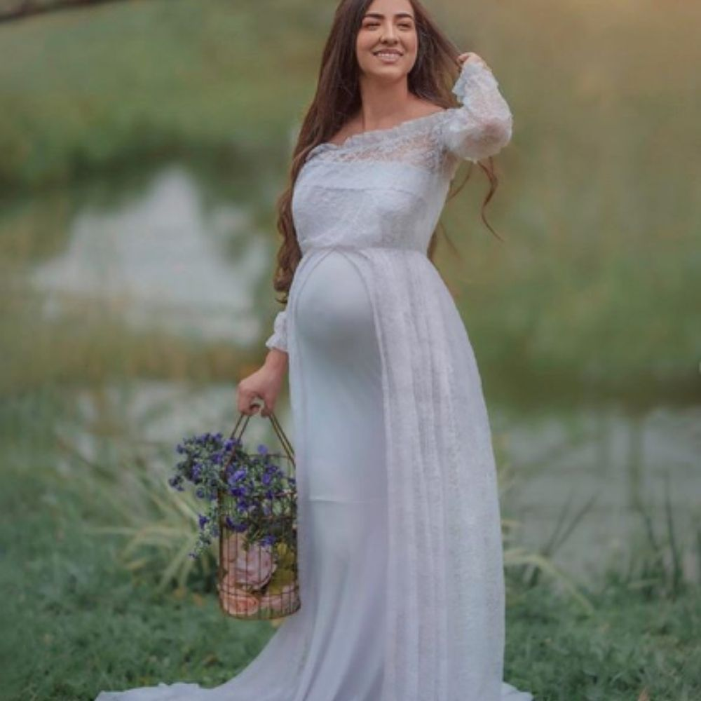 Vestido de Renda + Saia Sereia