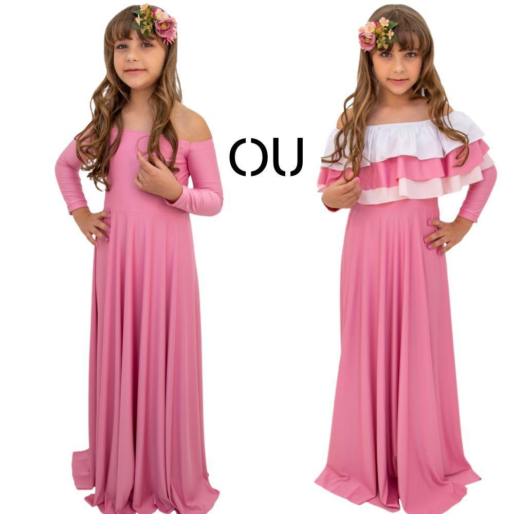 Vestido Infantil + Babado Solto