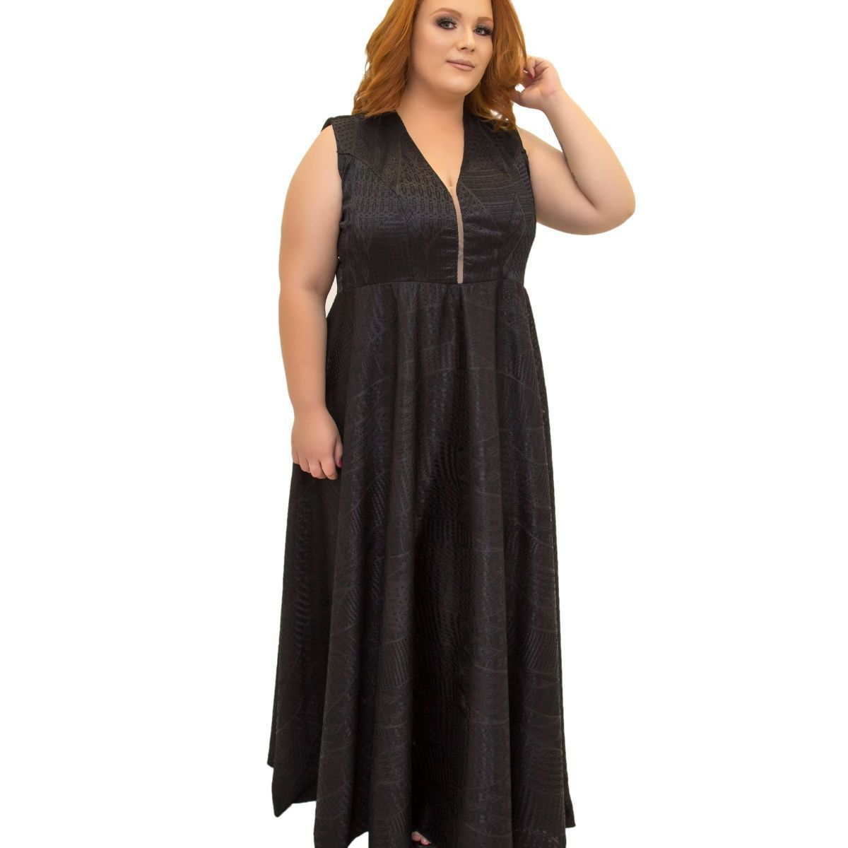 Vestido Plus Size Decotado