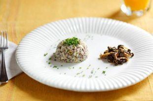 Risoto de Quinoa com Palmito e Ervilha