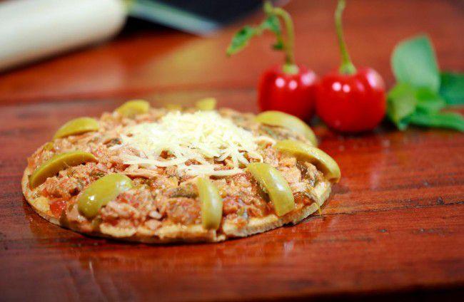 Pizza integral de Atum