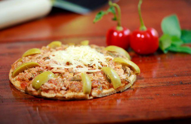 Pizza integral de Atum