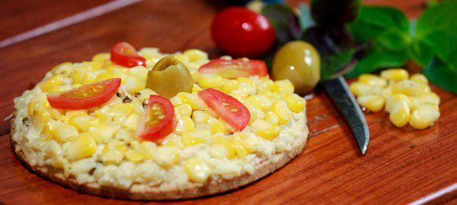 Pizza integral de Milho