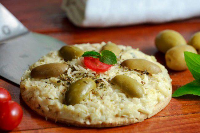 Pizza integral de Palmito
