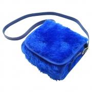 Bolsa Clutch Bebê em Pelúcia Azul Bic