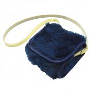 Bolsa Clutch Bebê em Pelúcia Azul Marinho