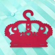 Cabide Porta Laços Acrílico Coroa Pink
