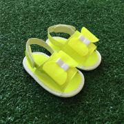 Chinelo Slide Neon Amarelo Limão