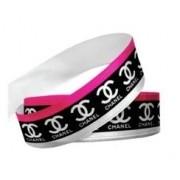 Fita Gorgurão Chanel Preta\Pink Grife Marca Famosa 38mm 1 metro