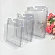 Kit 5 Embalagens em Acetato Transparente Para Pendurar