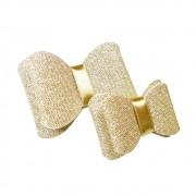 Laço Dourado Glitter Aplique Pronto
