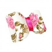 Laço Floral Pink Aplique Pronto