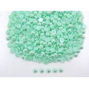 Meia Pérola 5mm Verde Água  Irizada