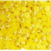 Meia Pérola 6mm Amarela Irizada
