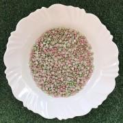 Meia Pérola 6mm Mesclada Verde/Rosa