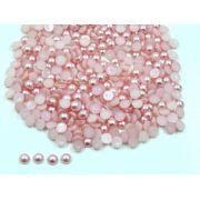 Meia Pérola 6mm Rosa Seco Rosê