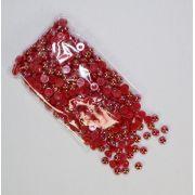 Meia Pérola 6mm Vermelha Irizada