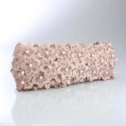 Renda Guipir Com Pérolas Nude 45mm 1 metro