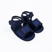 Sandália Azul Marinho em Cetim
