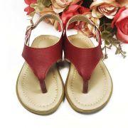 Sandália Rasteira de Dedo Vermelha