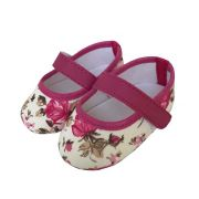 Sapatilha Coleção Ester Floral Pink com Fecho em  Velcro