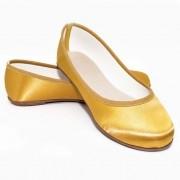 Sapatilha Dourada em Cetim