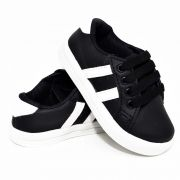 Tênis Streetwear Preto e Branco