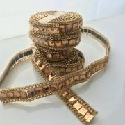 Tira Manta de Chaton Dourada 50cm