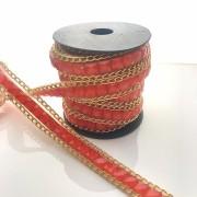 Tira Manta de Chaton Vermelho 50cm