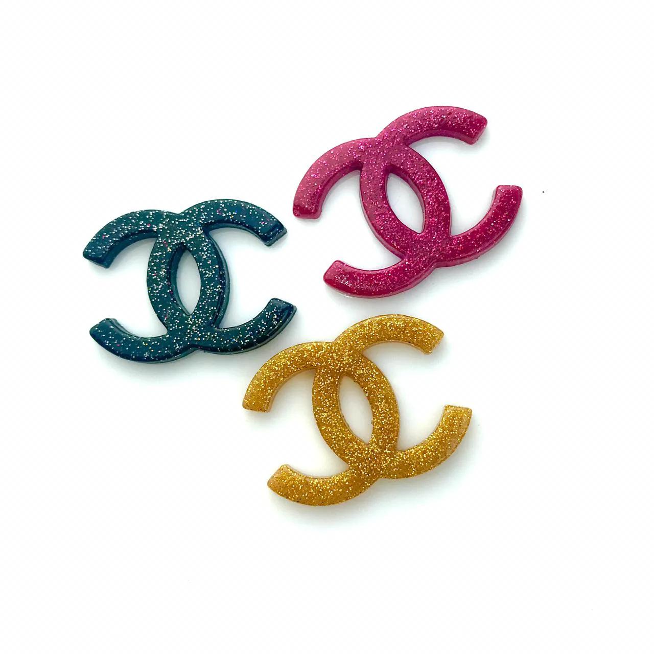 Aplique Emborrachado Chanel Glitter