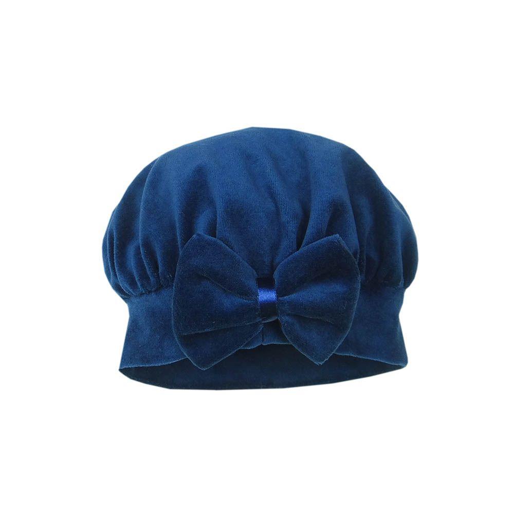 Boina Veludo Azul Marinho