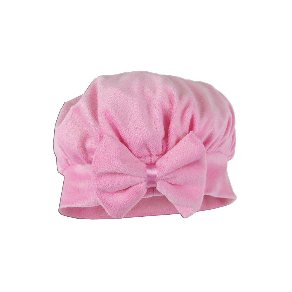 Boina Veludo Rosa Chiclete