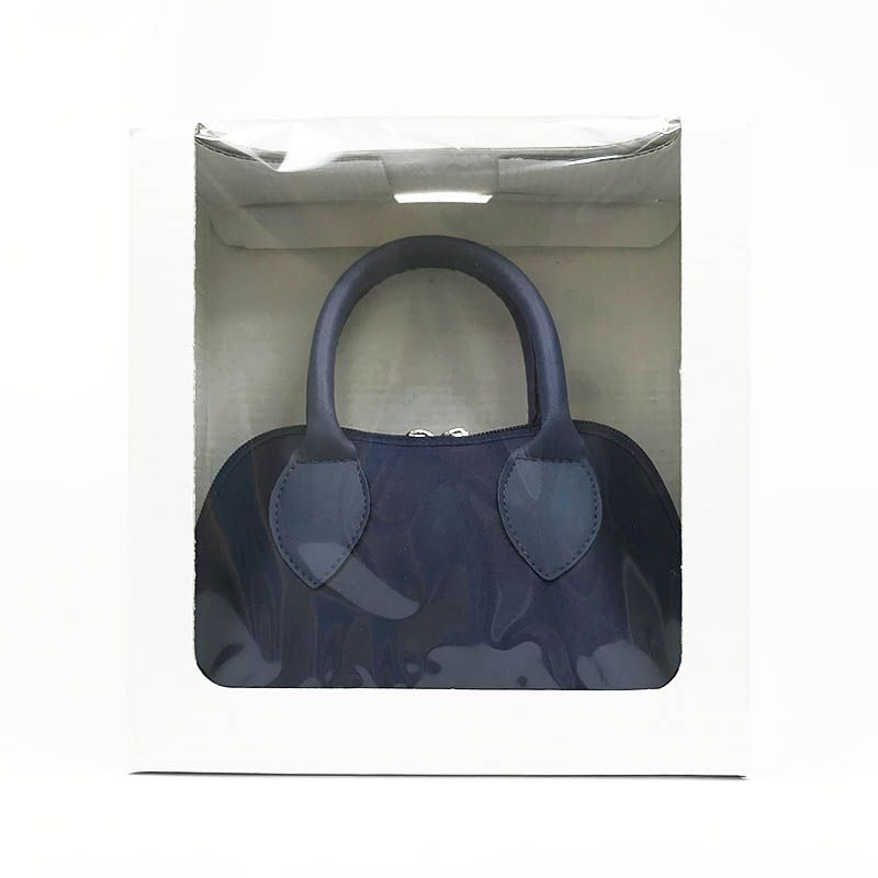 Bolsa Azul Marinho em Cetim