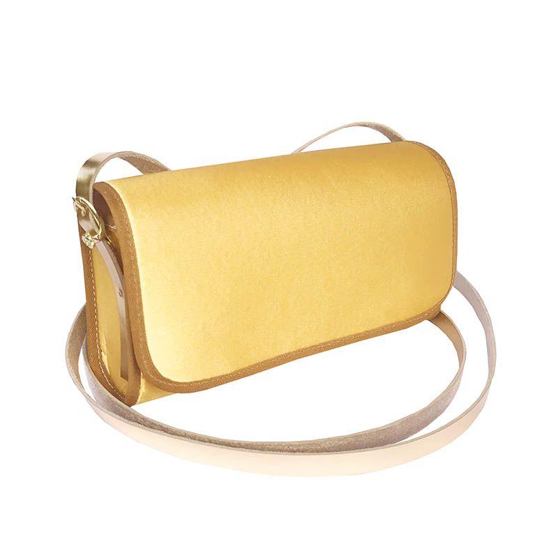 Bolsa Clutch Dourada
