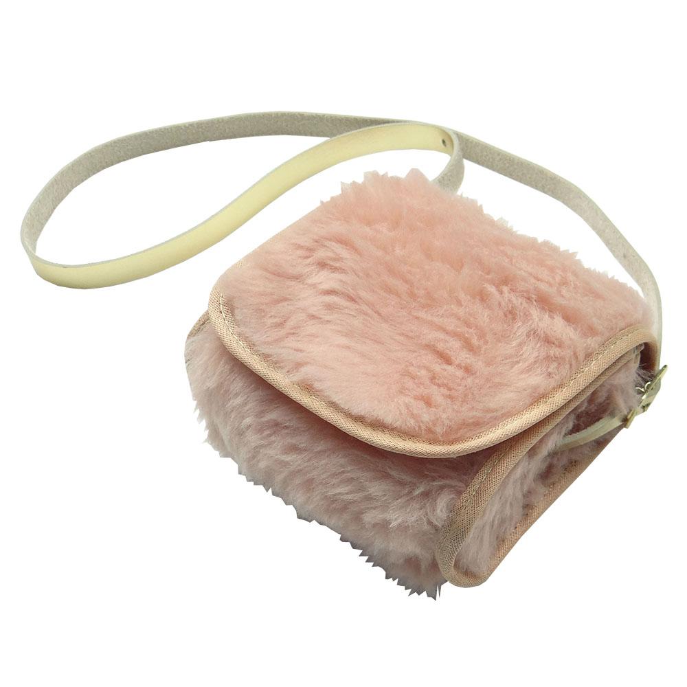 Bolsa Clutch Bebê em Pelúcia Nude